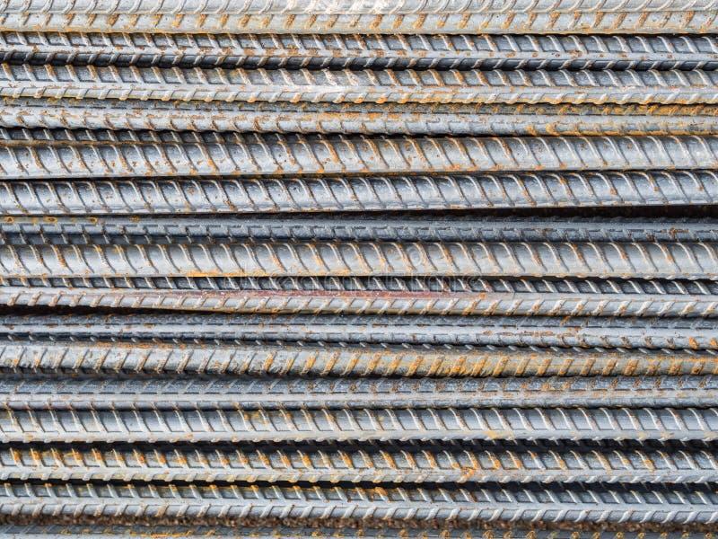 Усильте стальную текстуру штанги стоковые фотографии rf