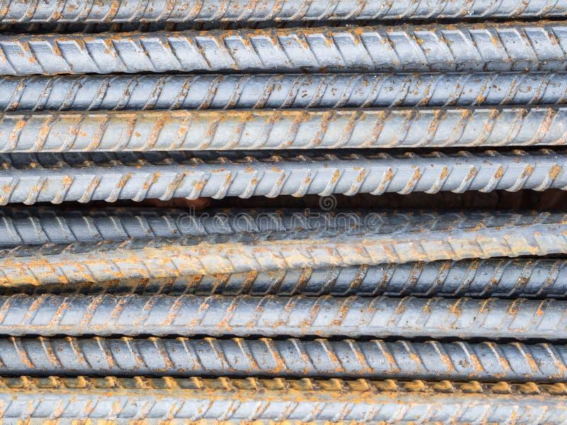 Усильте стальную текстуру штанги стоковая фотография