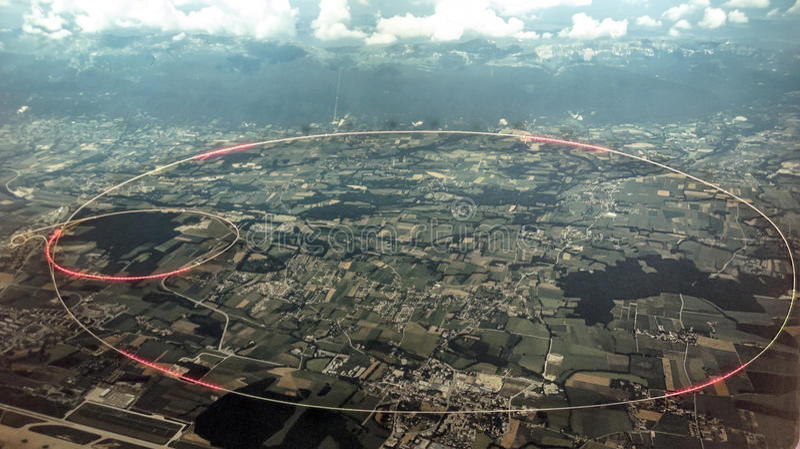 Ускоритель частиц на CERN стоковые изображения rf