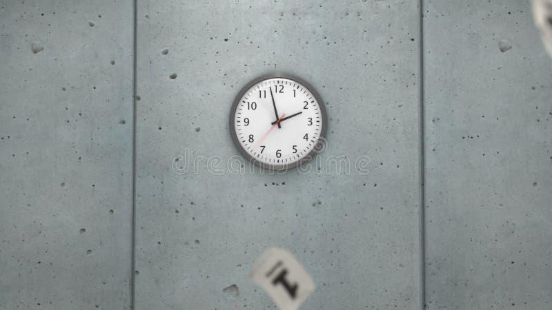 Ускоряя ход время иллюстрация вектора