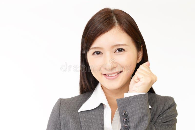 Усмехаться дамы офиса стоковая фотография rf