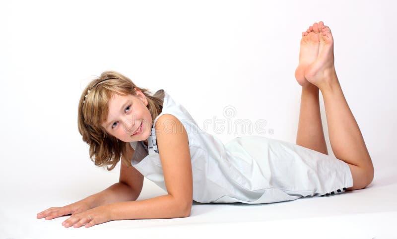 усмехаться девушки стоковое изображение