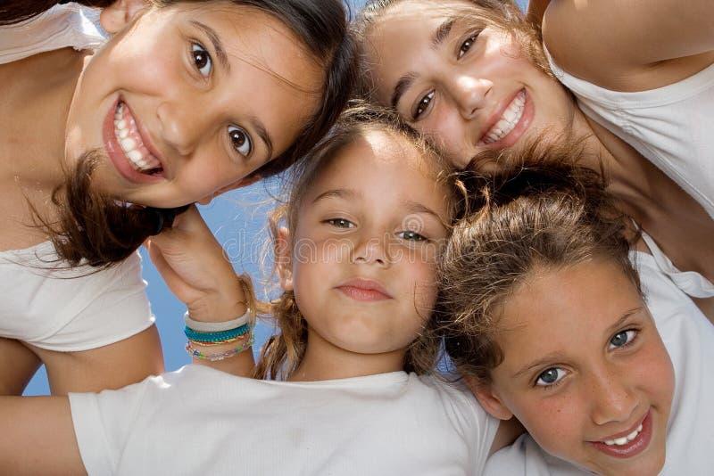 усмехаться детей счастливый стоковые фото