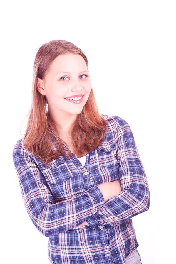 усмехаться девушки предназначенный для подростков стоковая фотография