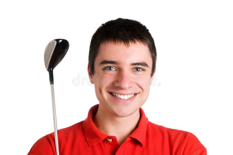 усмехаться игрока гольфа стоковое фото rf