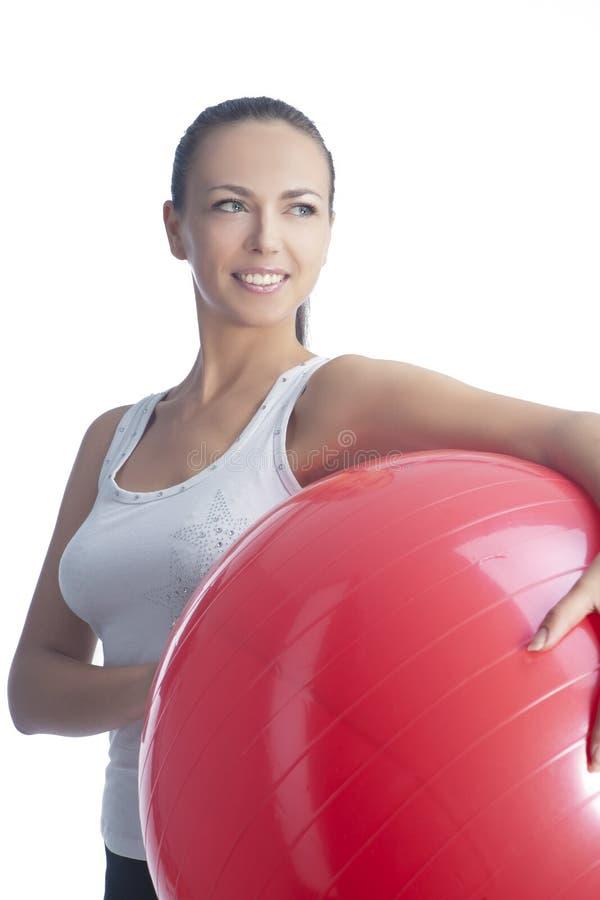 Усмехаться и счастливый sportswoman стоковое изображение