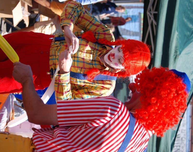 усмехаться клоунов стоковая фотография rf