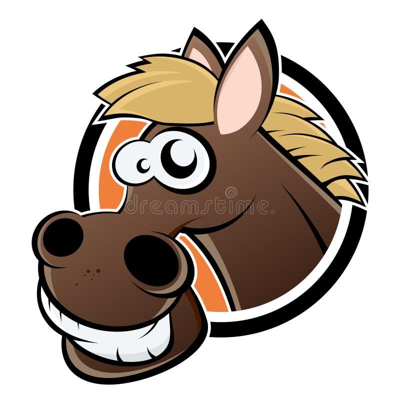 Смешной рисунок головы лошади, дню