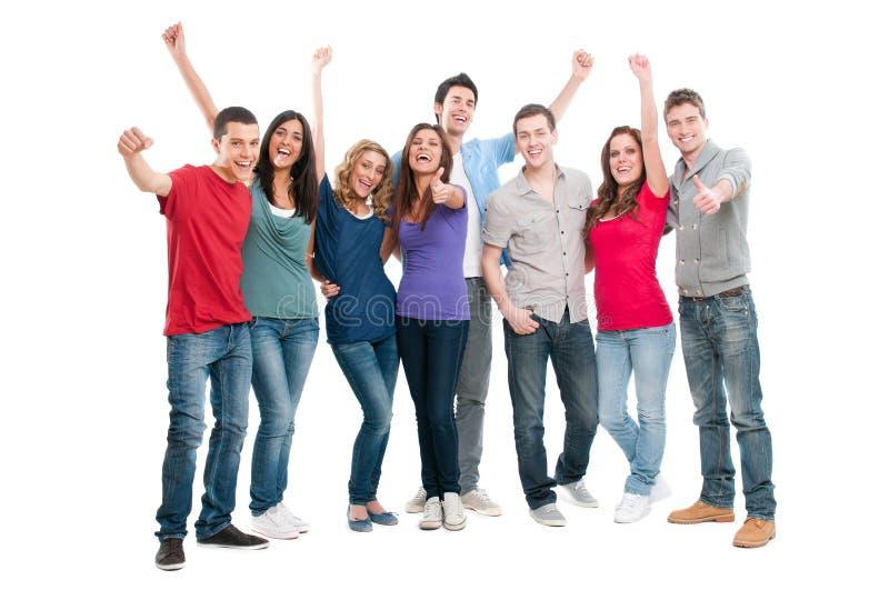 усмехаться людей успешный стоковая фотография rf