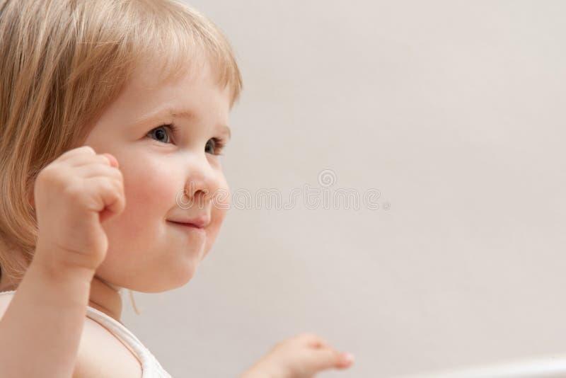 усмехаться младенца счастливый стоковое фото rf