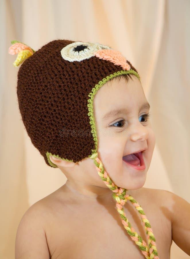 усмехаться младенца счастливый стоковое фото