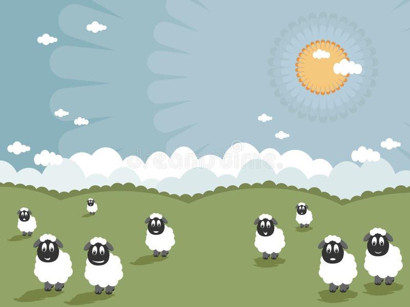 усмехаться овец иллюстрация штока