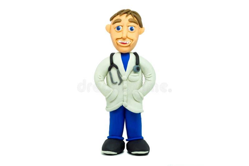 Усмехаться доктора успеха молодой сделанный в пластилине стоковая фотография