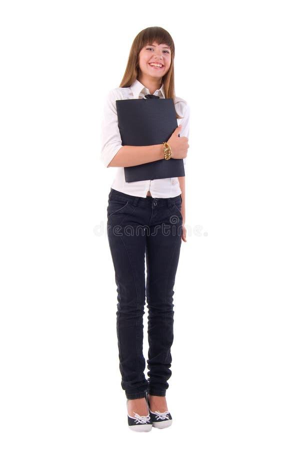 усмехаться офиса девушки стоковая фотография rf