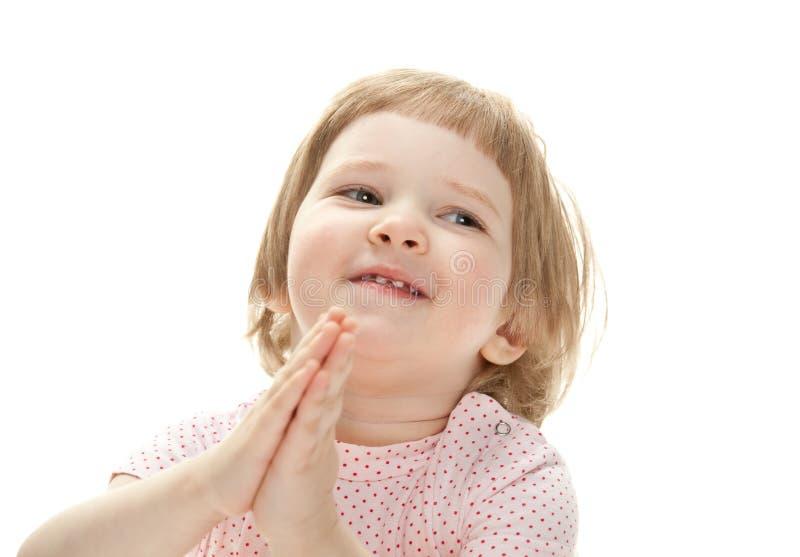 усмехаться портрета крупного плана ребенка счастливый стоковое фото