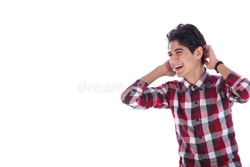 Усмехаться подростка стоковая фотография rf