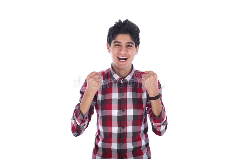 Усмехаться подростка стоковое фото