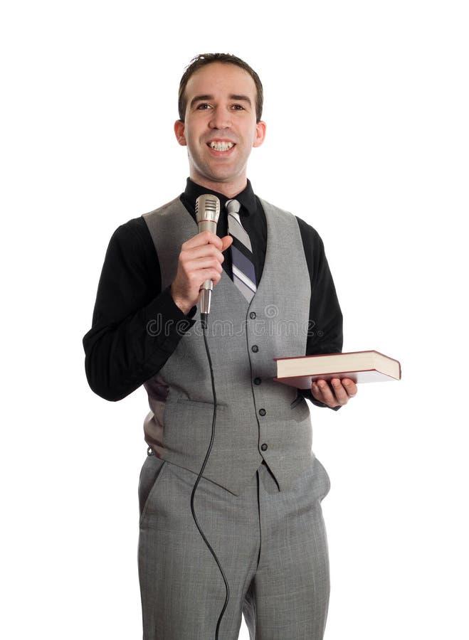 усмехаться проповедника стоковое фото rf