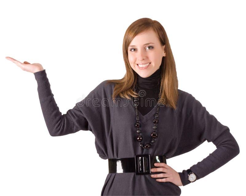 усмехаться руки 01 девушки стоковая фотография