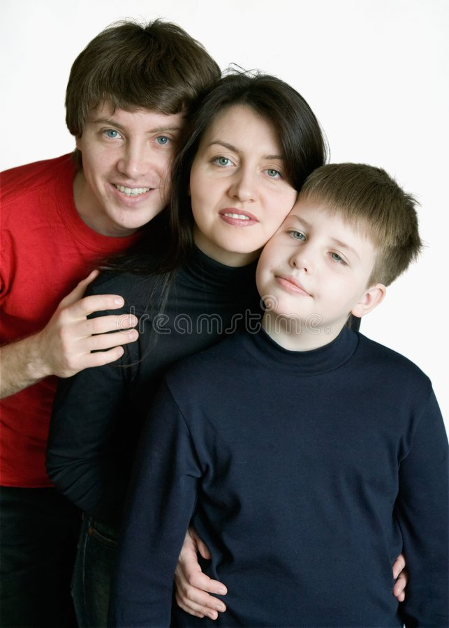 усмехаться семьи стоковая фотография rf