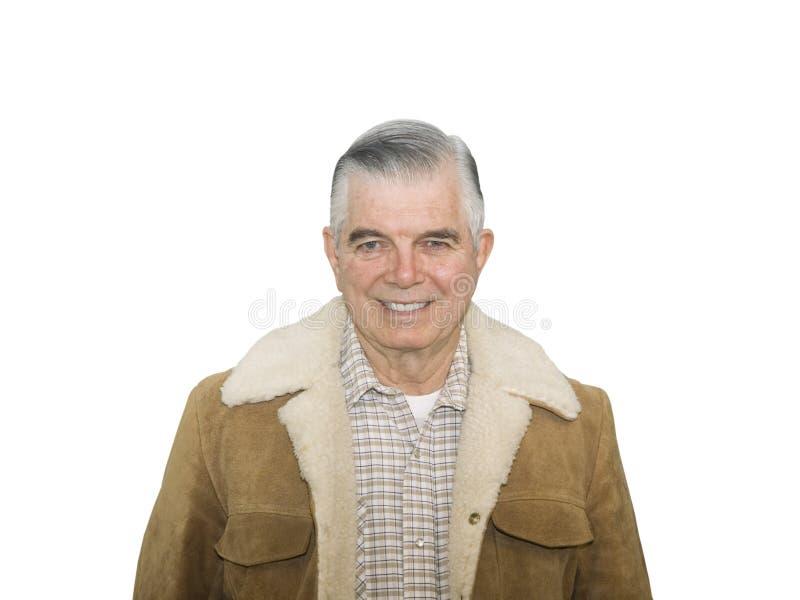усмехаться старшия ковбоя стоковая фотография