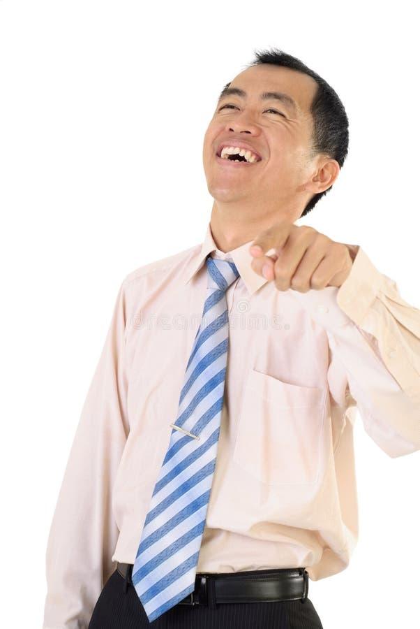 усмехаться счастливого человека дела возмужалый стоковые изображения rf