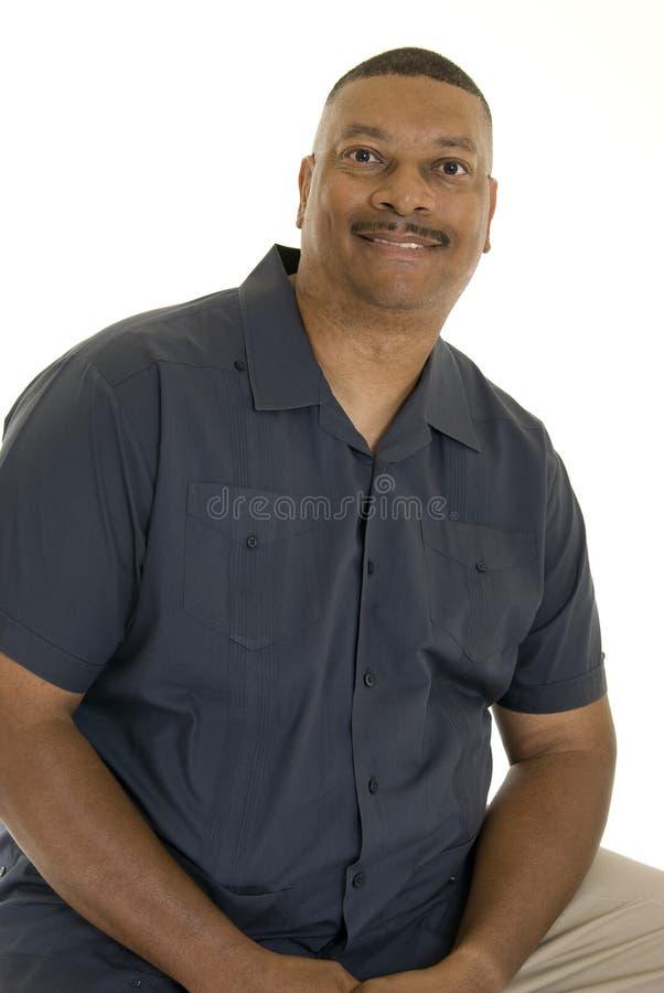 усмехаться человека афроамериканца стоковые изображения rf