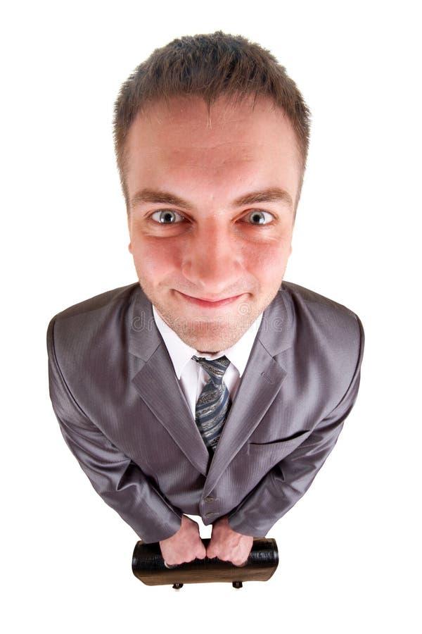 усмехаться человека дела счастливый стоковые изображения rf