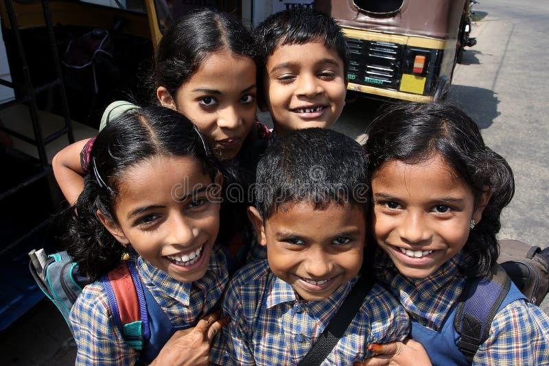 усмехаться школы детей индийский пошл стоковые фотографии rf