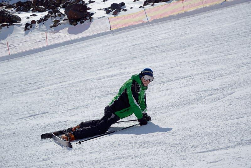 усмехаться лыжника стоковое фото rf