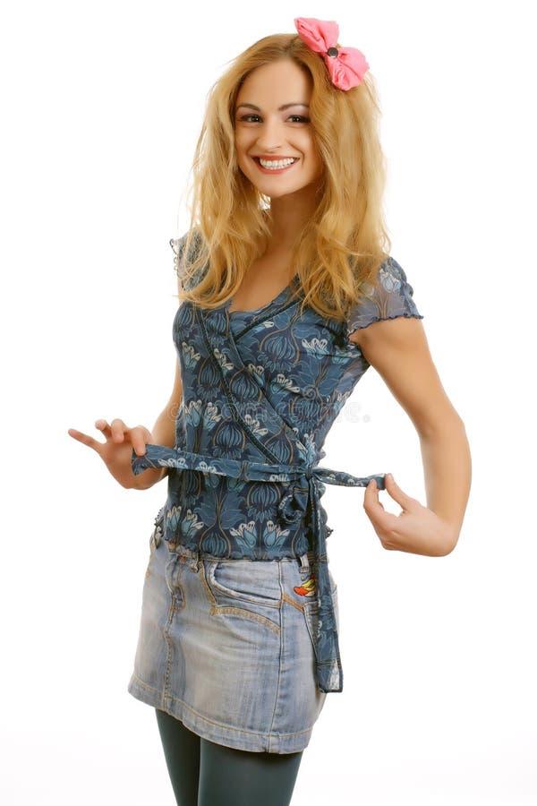 усмехаться 2 девушок счастливый предназначенный для подростков стоковое изображение
