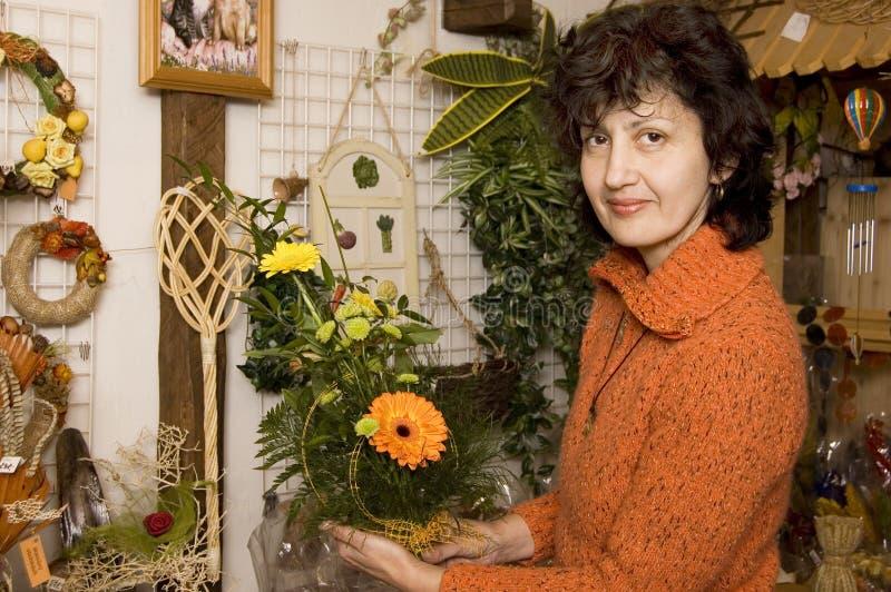 усмехаться florist стоковые фотографии rf