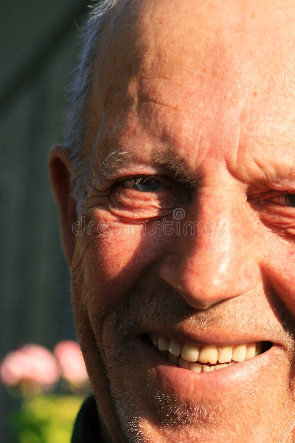 усмехаться grandpa стоковое изображение