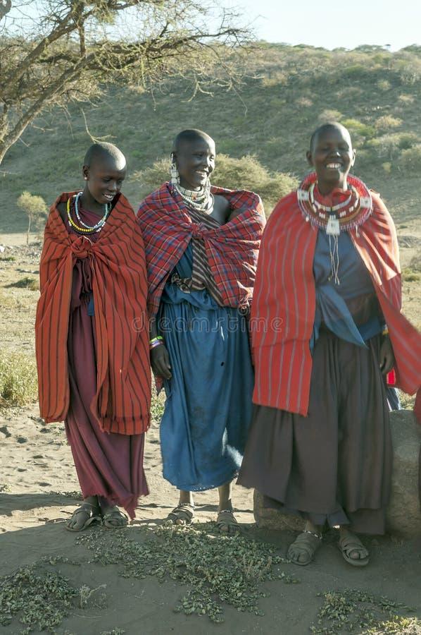 Усмехаться mara Masai стоковое изображение rf