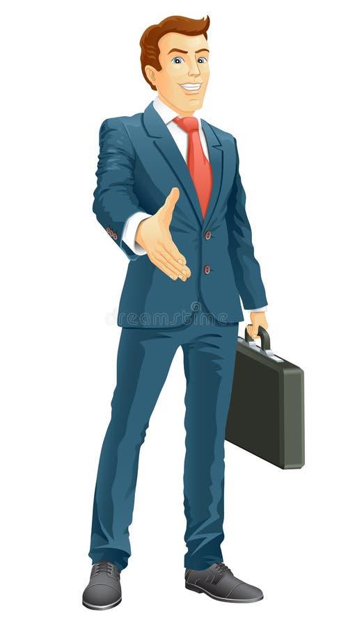 Download Усмехаясь бизнесмен иллюстрация вектора. иллюстрации насчитывающей бизнесмен - 33730711