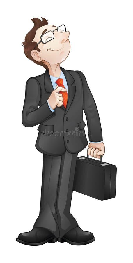 Усмехаясь бизнесмен стоковое фото rf