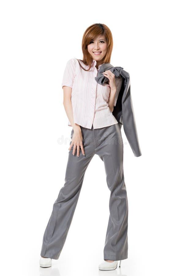 Усмехаясь бизнес-леди стоковая фотография