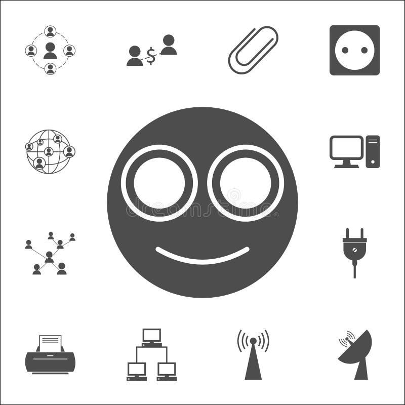 усмехаясь значок smiley комплект значков сети всеобщий для сети и черни иллюстрация вектора