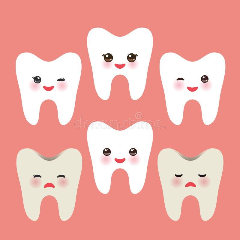 Усмехаясь зуб с розовыми щеками пакостные зубы беды и утехи здоровые Для иллюстраций детей, забота medcine, отображает etc в розо иллюстрация вектора