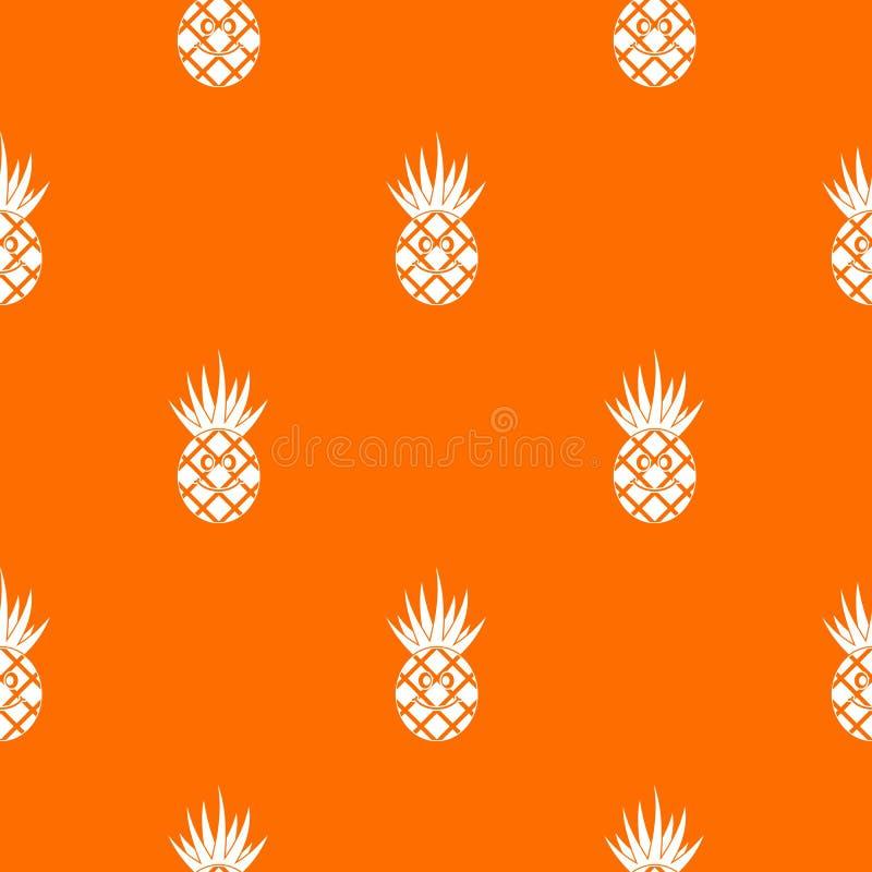 Усмехаясь картина ананаса безшовная бесплатная иллюстрация