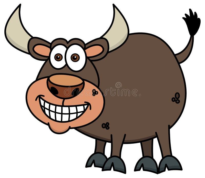 Усмехаясь коричневый бык бесплатная иллюстрация