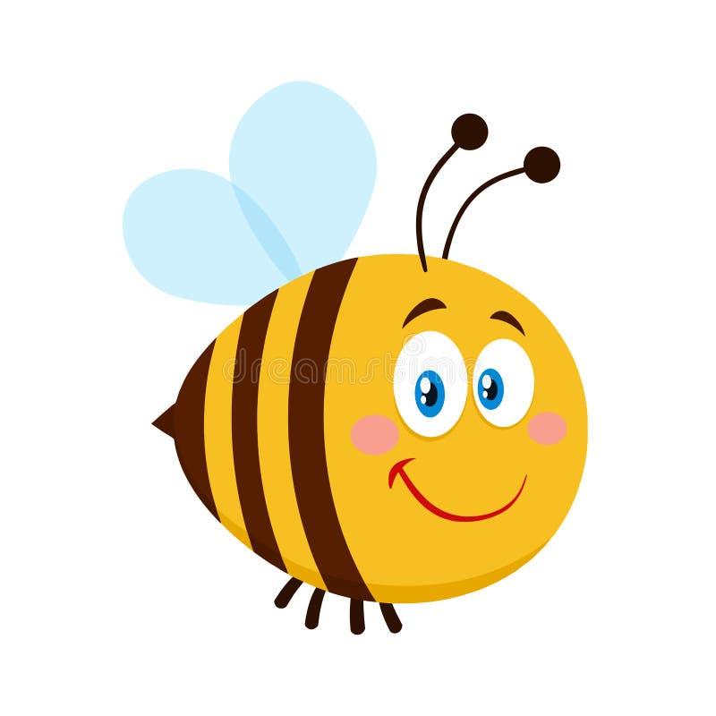 Усмехаясь милый персонаж из мультфильма пчелы бесплатная иллюстрация