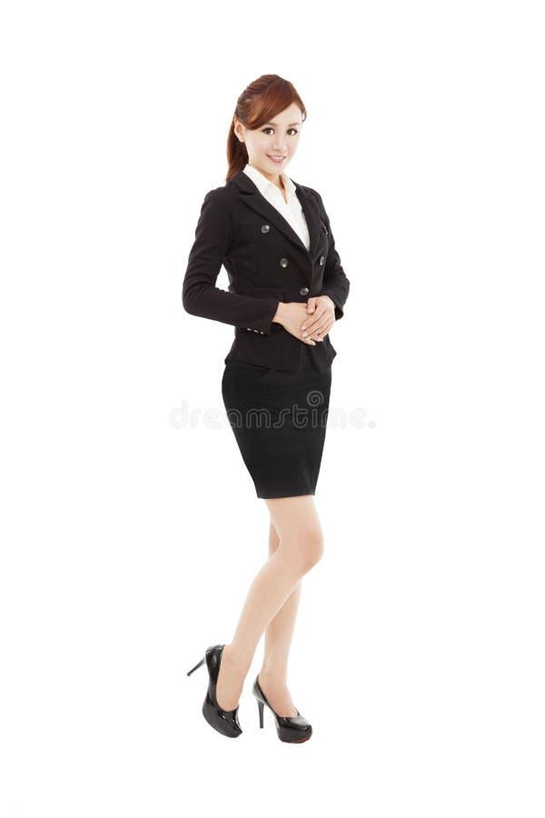 Усмехаясь молодая азиатская бизнес-леди стоковые фотографии rf