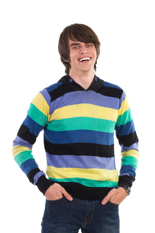 Download Усмехаясь молодой человек стоковое фото. изображение насчитывающей выражать - 40581298