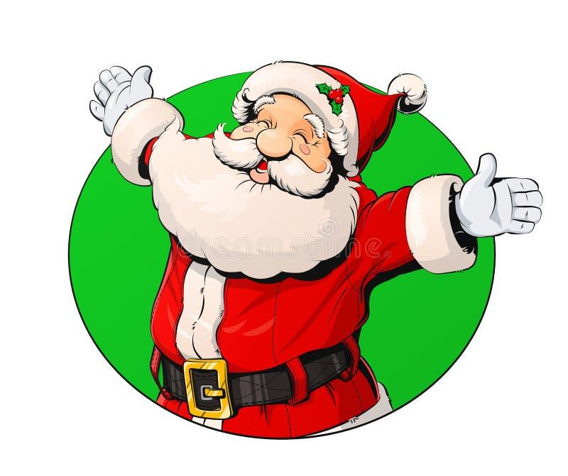Усмехаясь Санта Клаус бесплатная иллюстрация