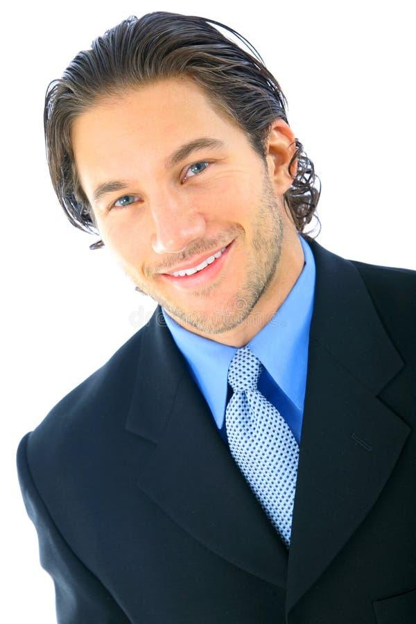 усмешка бизнесмена красивая стоковая фотография rf
