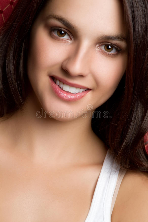 усмешка девушки милая стоковые изображения rf