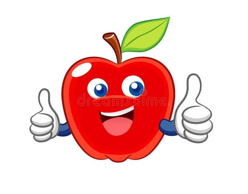 усмешка шаржа яблока иллюстрация штока