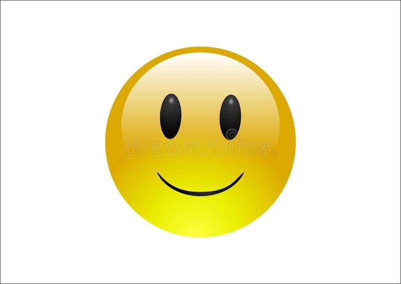 усмешка emoticons aqua стоковые изображения