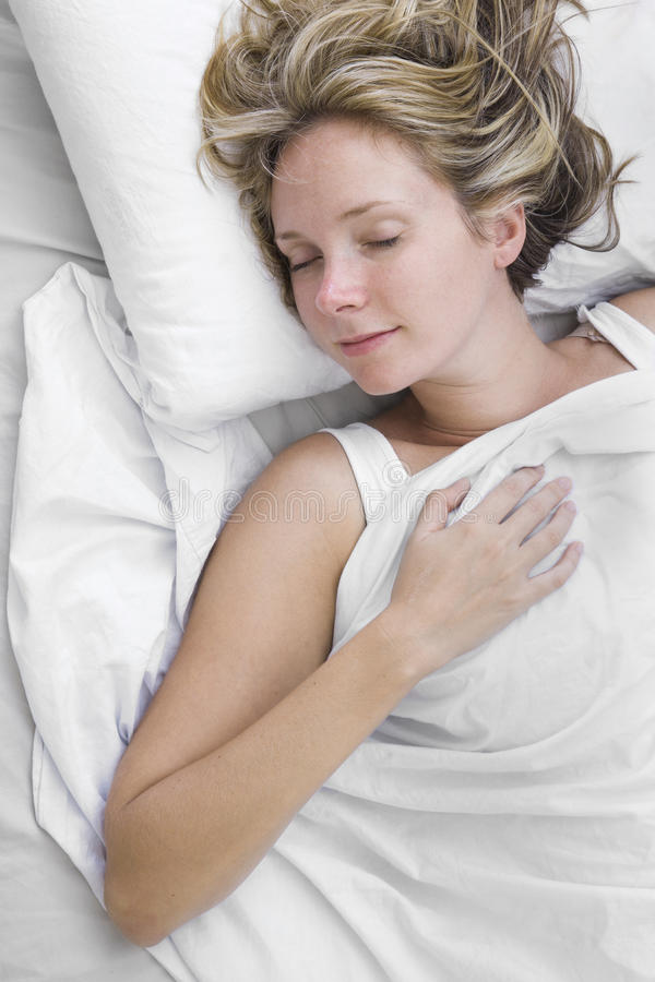 уснувшая женщина стоковое фото rf